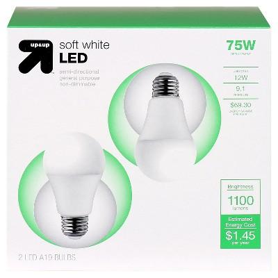 LED Soft White Light Bulb 11.2 W (75W equivalent) 2pk - up & up ™