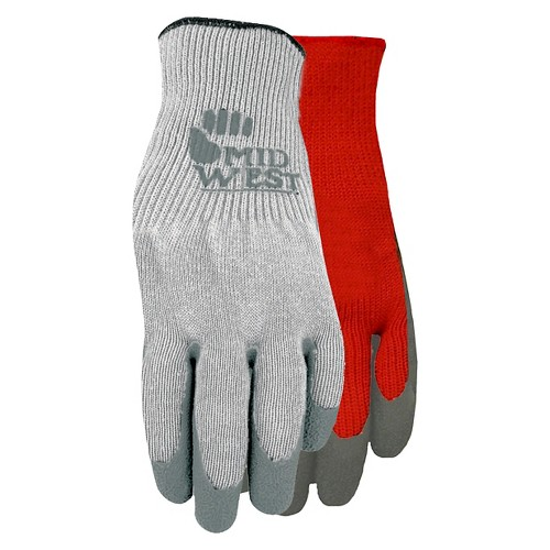 Knit Glove With Textured Rubber Palm 3-Pack - XL, Grey