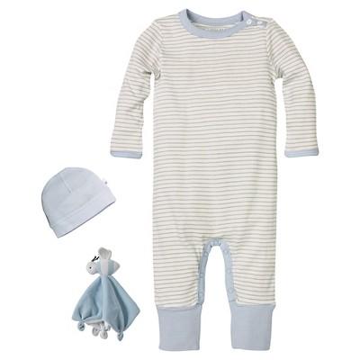 Newborn Boys' Burt's Bees Baby™ Coveral-Hat & Lovey - Blue 3-6M