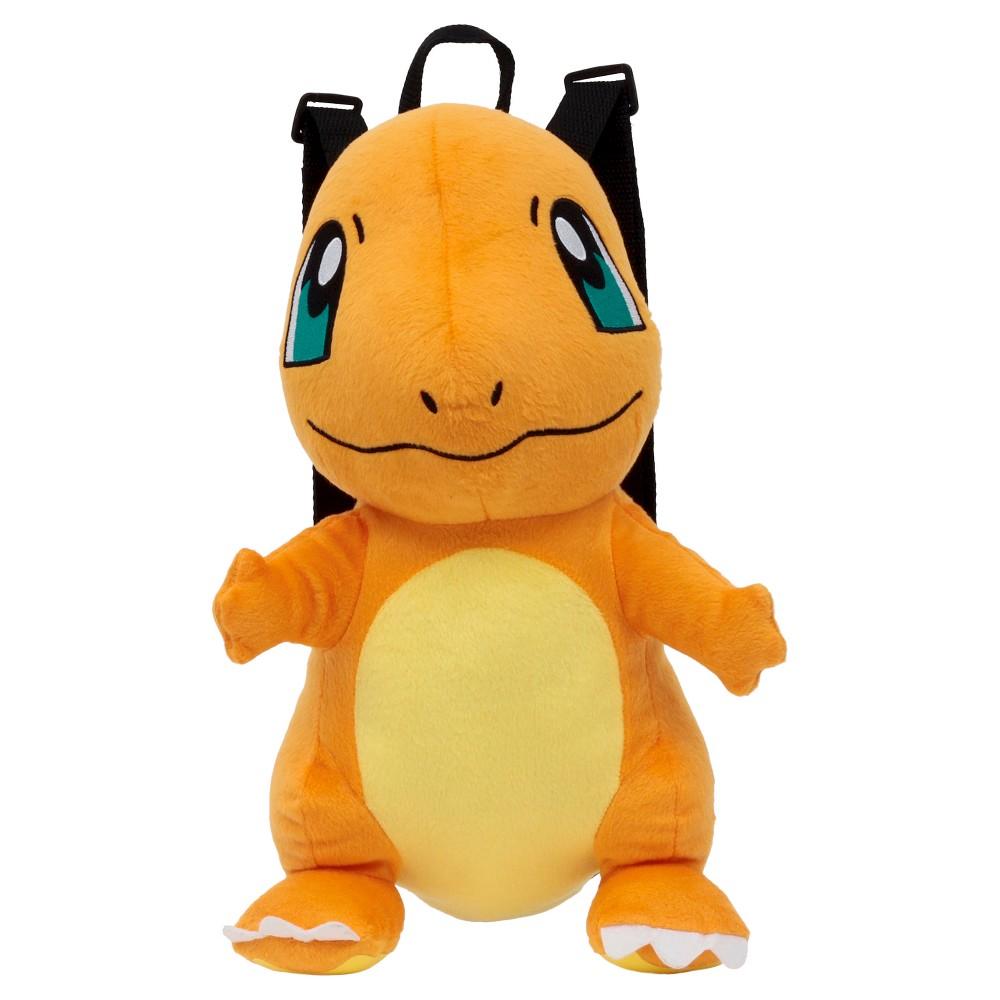 Pokemon Kids Charmander Plush Backpack - Orange/Yellow