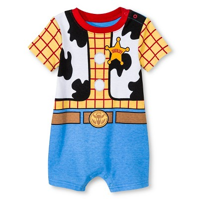 Disney Toy Story Baby Boys' Romper - Yellow 0-3M