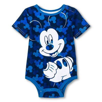 Disney Mickey Mouse Baby Boys' Bodysuit - Blue 3-6M