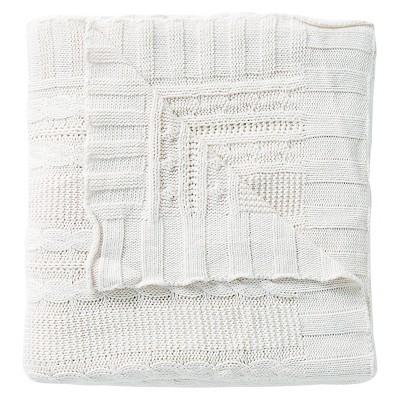 Ivory Cumin Dublin Cable Knit Throw (50 X70 )