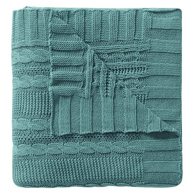 Sky Blue Dublin Cable Knit Throw (50 X70 )