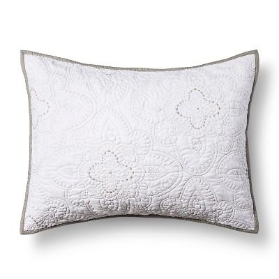 White Disco Medallion Pillow Sham (Standard)- Xhilaration™