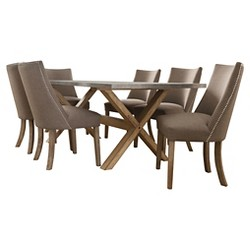 Leahlyn 7pc Round Dining Set- Barrel Black  - Signature Design by Ashley