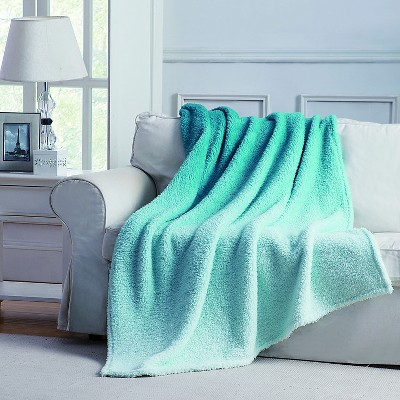 Jessica Ombre Throw - Teal - 50x60