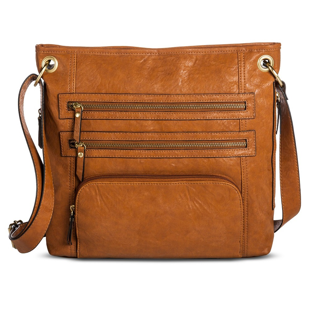 Bueno of California Women's Faux Leather Crossbody Handbag - Tan