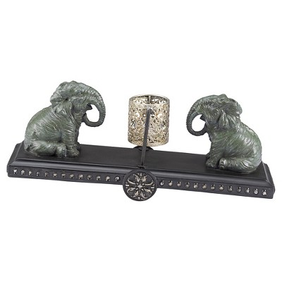 Outdoors Elephant Tea Light Holder - Bombay®