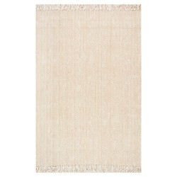 Hand Woven Don Jute with fringe Rug - nuLOOM