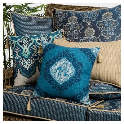 bombay outdoors anatolia bluekenya reversible outdoor lumbar pillow 2pack
