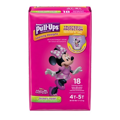 Huggies Pull-Ups Learning Designs Training Pants for Girls, 4T-5T, 18ct