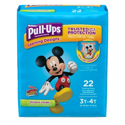 Huggies Pull-Ups Learning Designs Training Pants for Boys, 3T-4T, 22ct