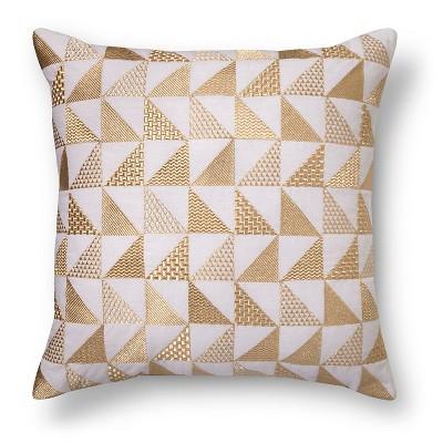 Gold Metallic Triangle Throw Pillow - Xhilaration™
