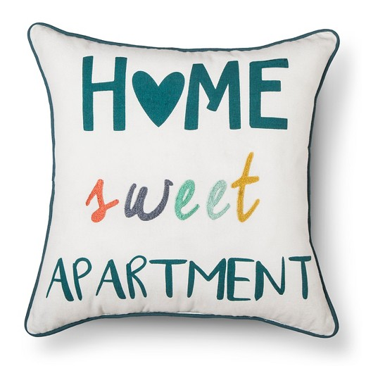 White Home Sweet Apartment Throw Pillow Room Essentials Target
