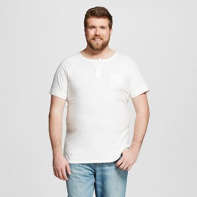 Men's Big & Tall Henley White XXXLT - Mossimo Supply Co.™