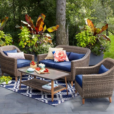Mayhew 4pc All Weather Wicker Convo Set   Threshold™
