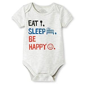 Industry 9 Newborn Eat, Sleep, Be Happy Bodysuit - 6-9M Off White, Newborn Unisex, Size: 6-9 M