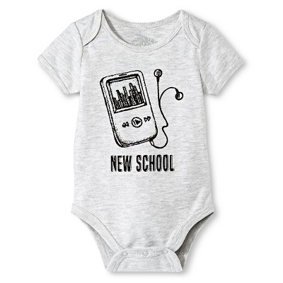 Industry 9 Baby New School Bodysuit - 0-3M Gray