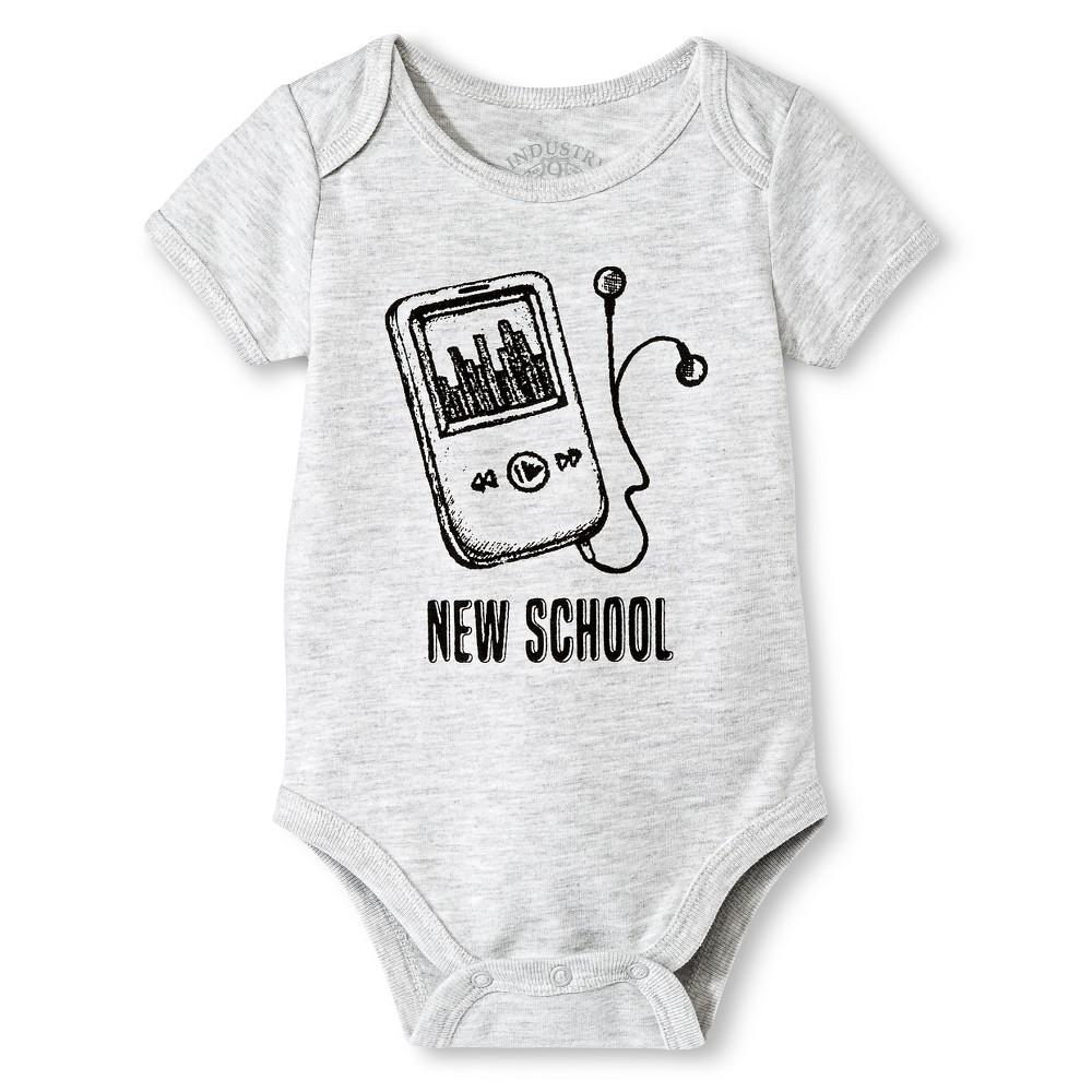 Industry 9 Baby New School Bodysuit - 0-3M Gray, Infant Boys, Size: 0-3 M