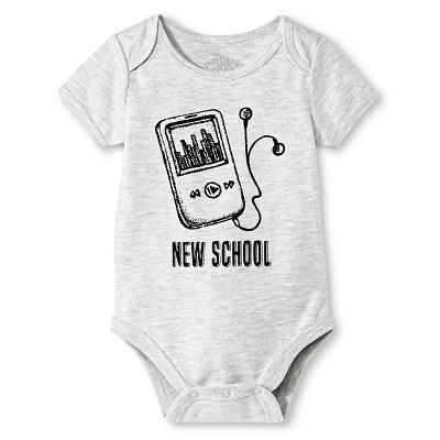 Industry 9 Baby New School Bodysuit - 3-6M Gray