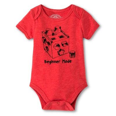 Industry 9 Baby Beginner Mode Bodysuit - 3-6M Red