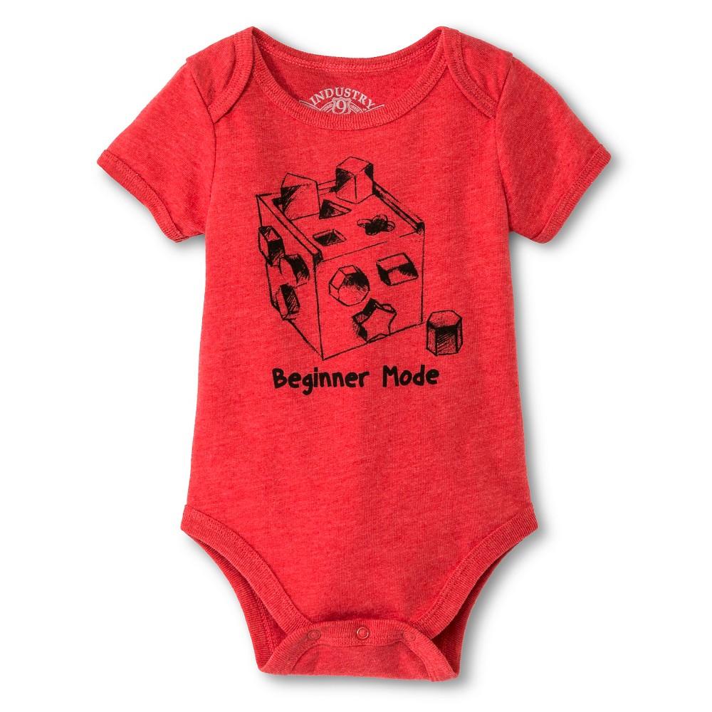 Industry 9 Baby Beginner Mode Bodysuit - 3-6M Red, Infant Boys, Size: 3-6 M