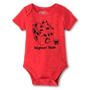 Industry 9 Newborn Beginner Mode Bodysuit - 12M Red, Newborn Boy