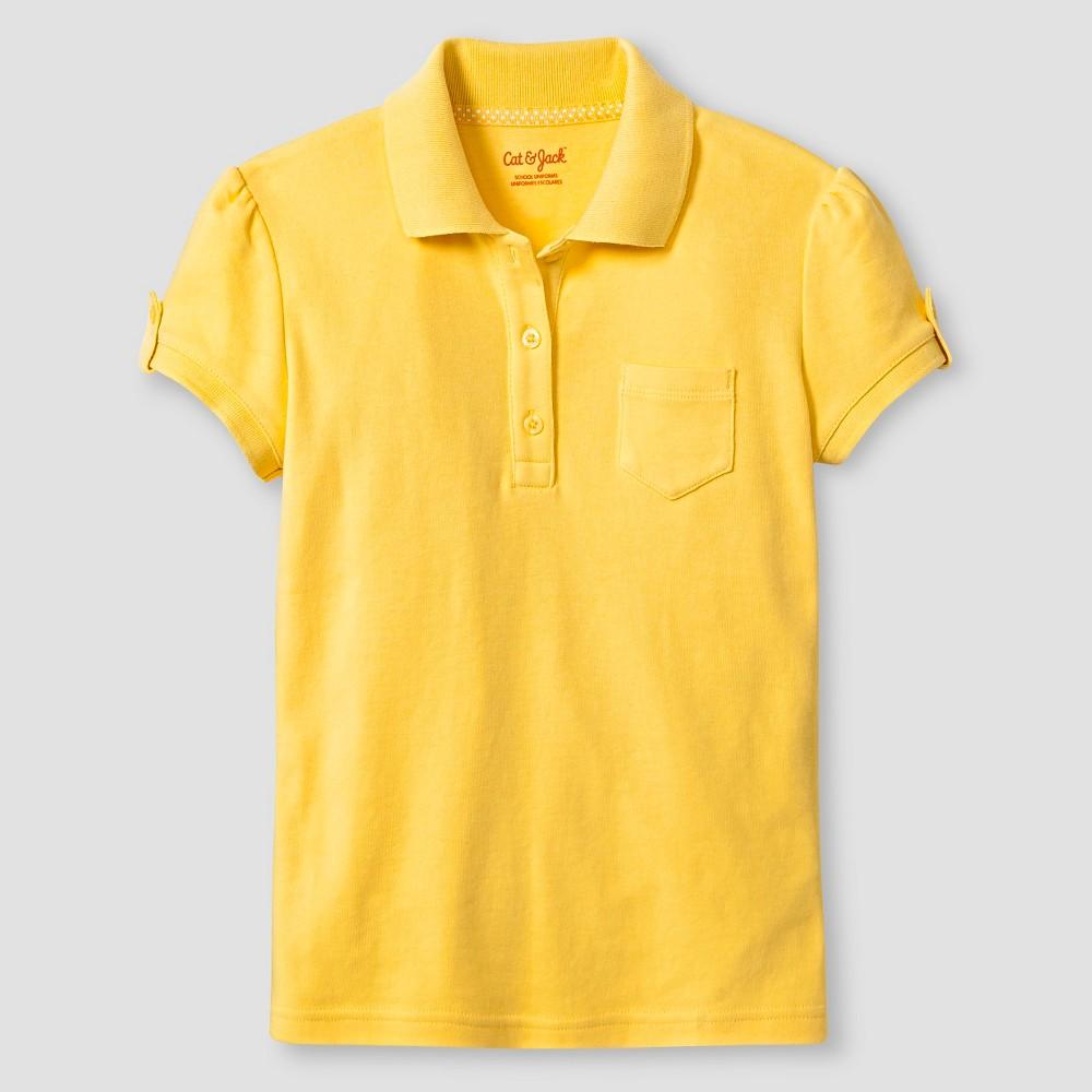 Girls Interlock Polo Shirt - Cat & Jack, Size: Large, Pongee Tint