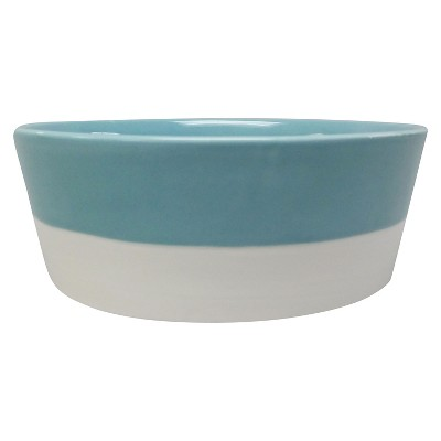 Dipped Stoneware Dog Bowl - Teal - 4 cups - Boots & Barkley™