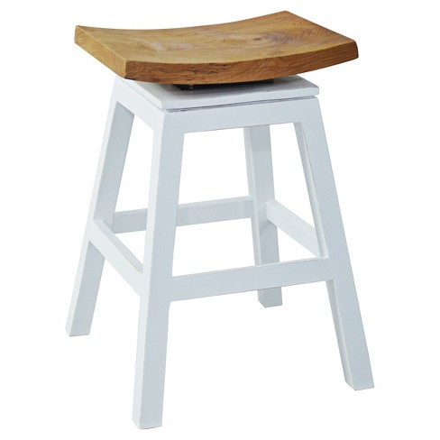 "Organic 24"" Counter Stool Wood/White - Jeffan - image 1 of 1"