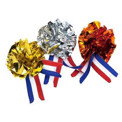 Olympic Mylar Medals Cat Toy - Bronze, Silver & Gold (3 pk)- Boots & Barkley™
