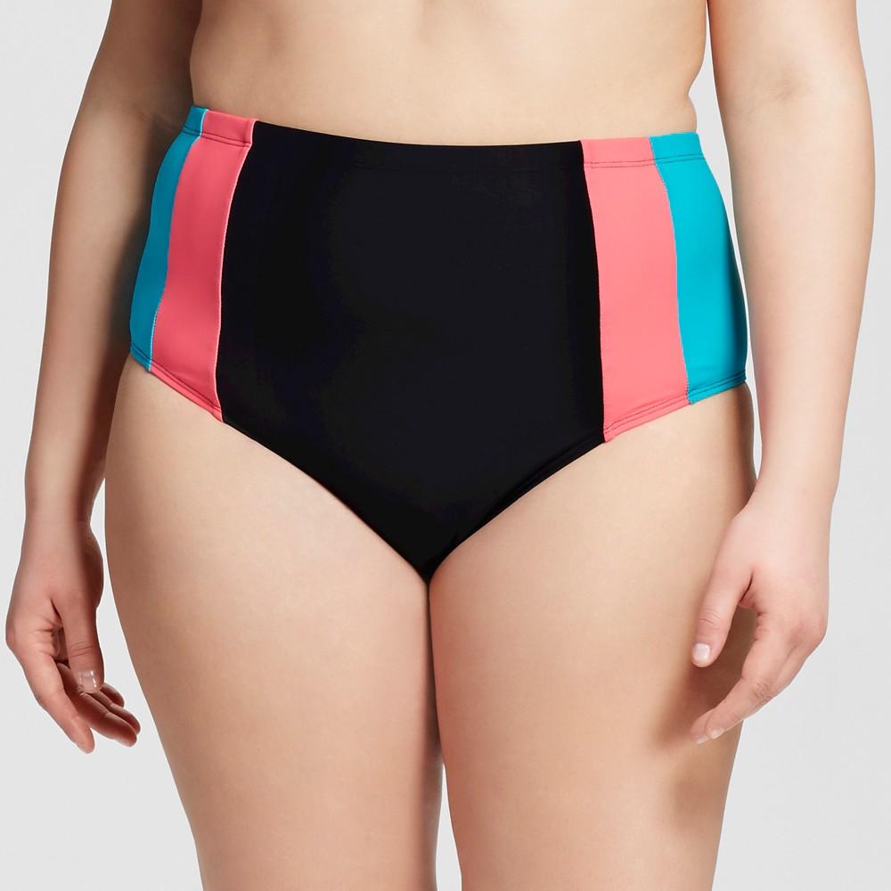 Women's Plus Size Bikini Swim Bottoms Deep Turquoise 2X – Costa Del Sol, Blue