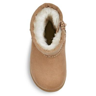 Infant Girls' Aubrey Fleece Boots Tan 3 - Genuine Kids, Infant Girl's
