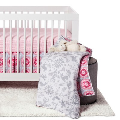 Sabrina Soto™ Lola Crib Bedding Set (3pc)- Gray