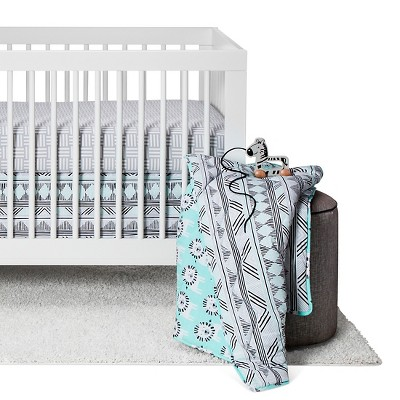 Sabrina Soto™ Leo Crib Bedding Set (3pc)- Turquoise