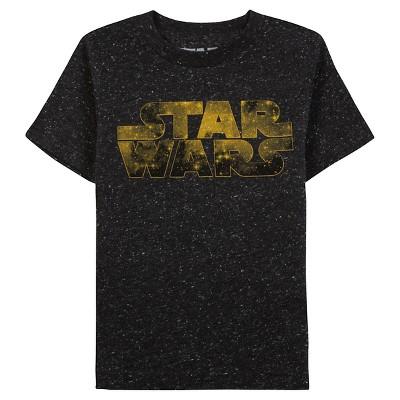 Star Wars™ Toddler Boys' Short Sleeve T-Shirt - Black Speckle 3T