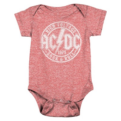 Baby AC/DC Bodysuit Red 12 M