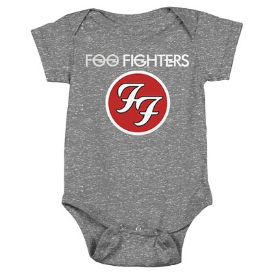 Baby Foo Fighters Bodysuit Charcoal 12 M