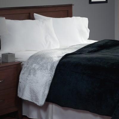 Yorkshire Home Super Warm Flannel-Like Reversible Blanket