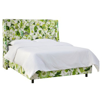 Archer Tufted Wingback Bed   Grandiflora Jardin (King)   Skyline Furniture®