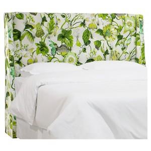 Archer Tufted Wingback Headboard - Grandiflora Jardin (Queen), Skyline
