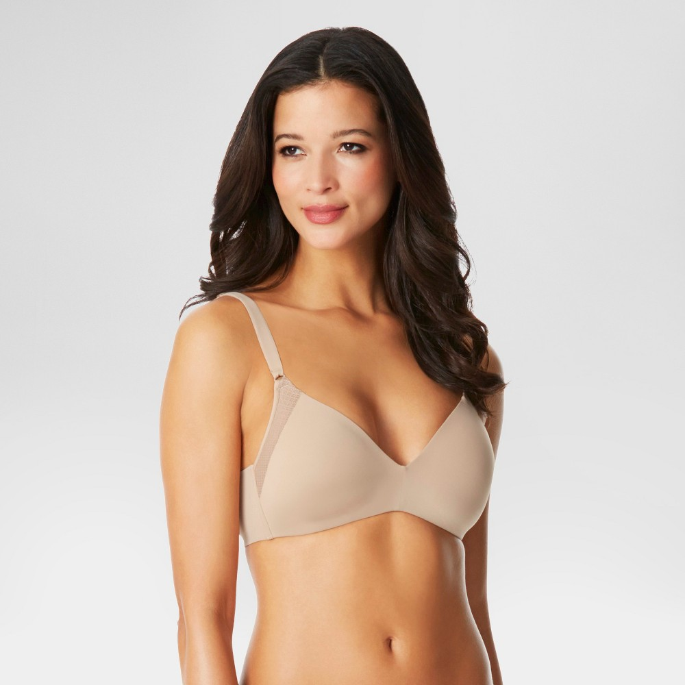 Simply Perfect by Warners Womens Pillow Soft Wire-Free with Lift Bra RN2771T - 34B Toasted Almond
