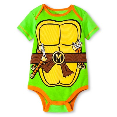 Teenage Mutant Ninja Turtles® Baby Boys' Bodysuit - Green 0-3M