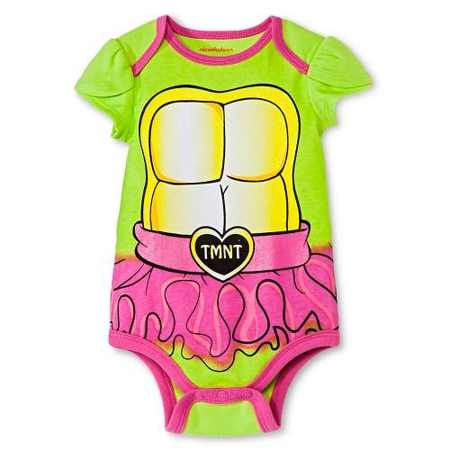 Newborn Girls' Teenage Mutant Nija Turtle Bodysuit - Green NB, Newborn Girl's