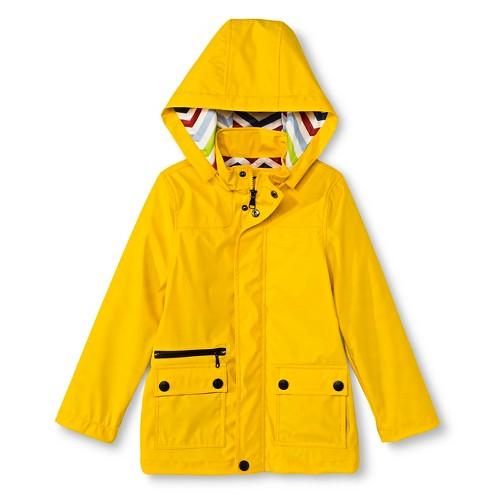 Boys' Raincoat with Detachable Hood 8 - Yellow, Boy's