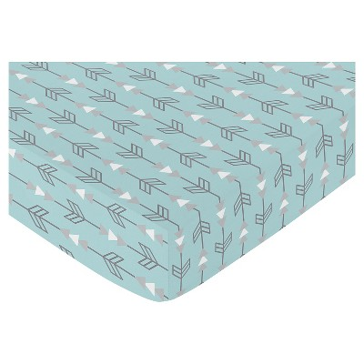 Sweet Jojo Designs Earth & Sky Fitted Crib Sheet - Arrow Print