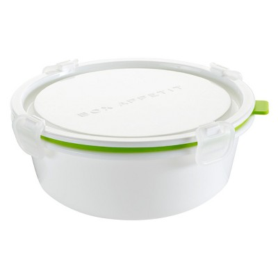 Black + Blum - Lunch Box Round Large Lime – 7.09 L x 7.09 W x 2.95 H