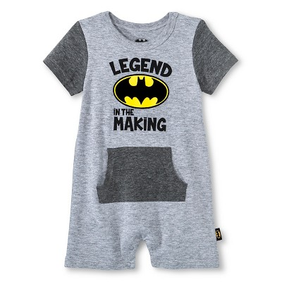 Baby Boys' Batman Romper - Gray 24M