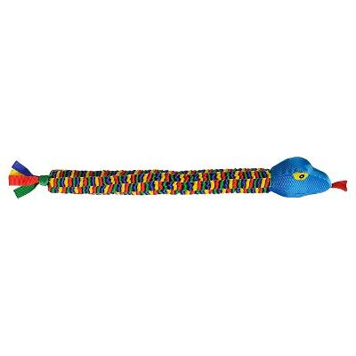 Chomper Ballistic Snake Dog Toy - Blue